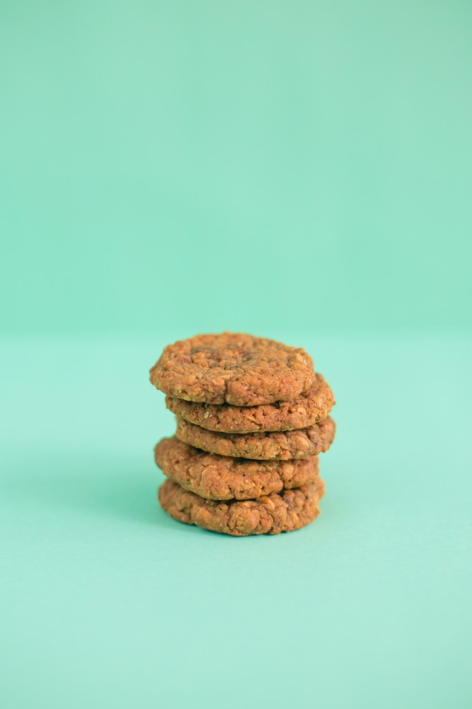 respite chewy and chunky oatmeal molasses walnut cookies